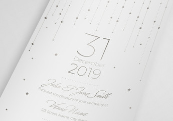 Formal Invitation Card Layout with Gold Elements