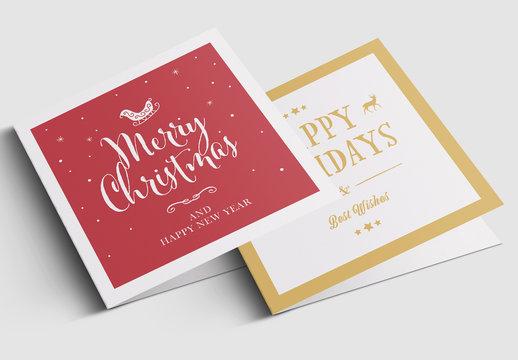 Festive Christmas Greeting Card Layout