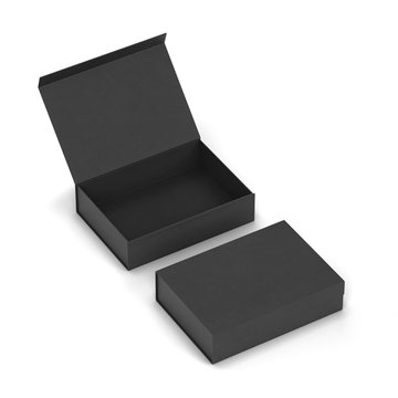 Blank magnetic box package