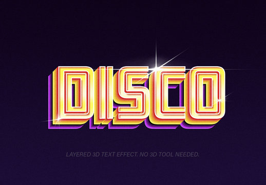 Shiny Retro Text Effect