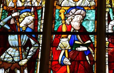 Vendome; France - june 28 2019: the Trinity Abbey of Vendome
