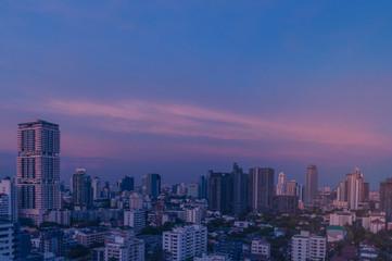 Aluminium Prints Blue sky Cityscape in Bangkok