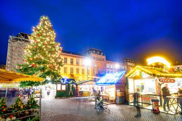 Weihnachtsmarkt in Darmstadt, Hessen, Deutschland