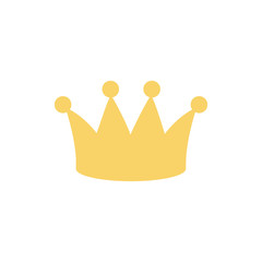 crown royalty monarchy icon on white background