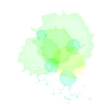 水彩ベクター 青と緑のしずく