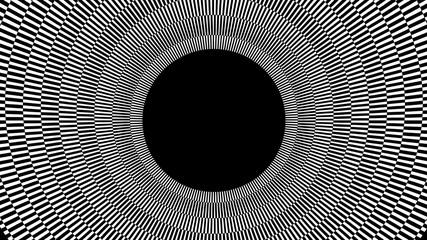 Black and White Radial Background - 3D Illustration