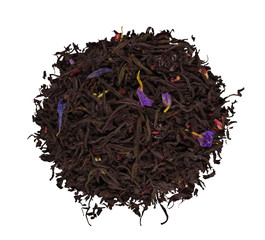 A pile of dried barberry tea leaves
