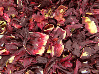 Hibiscus dried leaves
