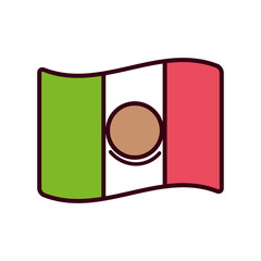 Isolated mexican flag vector design