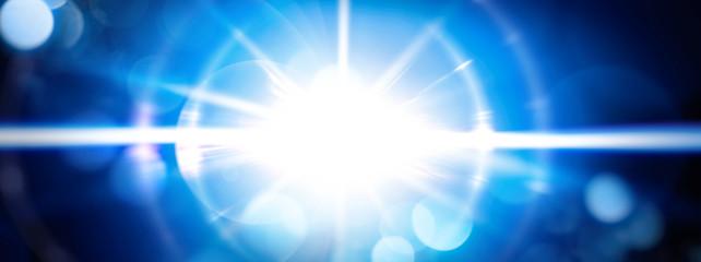 Fototapeta 青い光線