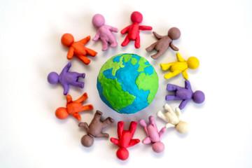 Zusammenhalten für eine schöne Welt