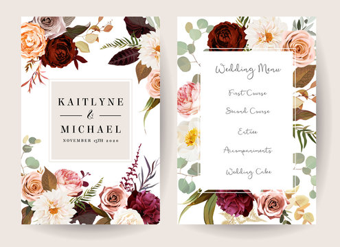 Vertical label baroque frames of leaves and flowers