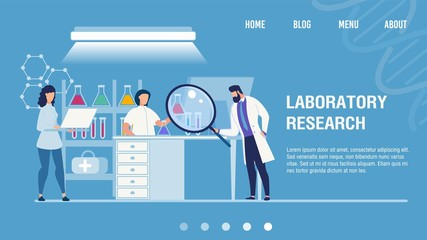 Medical Laboratory Research Center Landing Page