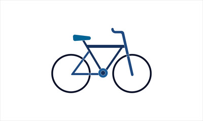 Bicycle bike icon in flat style vector image
