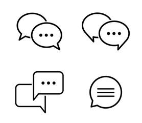 吹き出しの会話アイコンセット