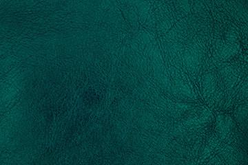Dark green leather texture. Background