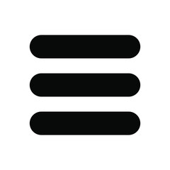 Web site Menu, line, list icon shape. Basic app ui page symbol logo sign. Vector illustration image. Isolated on white background. Internet navigation button.