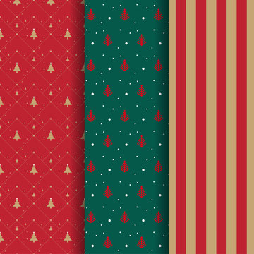 Collection of illustration Christmas theme patterns
