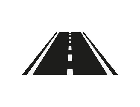 road icon isolate on white background, vector