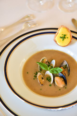 Clam and mussels soup