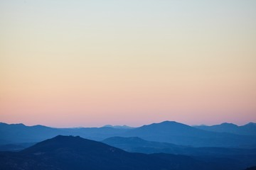 Printed kitchen splashbacks Beige Breathtaking shot of the mountain view in the Cleveland National Forest during the sunrise