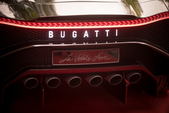 Rear part of a Bugatti Voiture Noir car