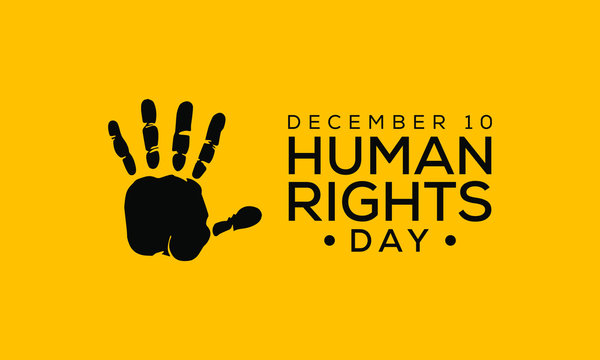 Vector illustration on the theme of International Human Rights Day on December 10th.
