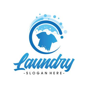 Laundry Logo, Dry Cleaning Logo, Creative laundry logo Vector
