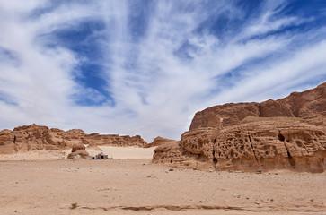 Sinai mountains. Egypt. Desert and sand mountains.