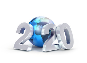 2020 New Year symbol for global business