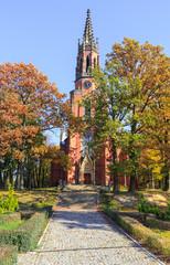 Evangelical Church in Kamieniec Zabkowicki, Lower Silesia, Poland