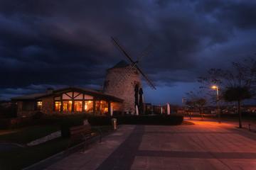 Aixerrota mill in La Galea, Getxo at twilight