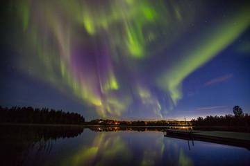 Northern lights in Kiruna, Lapland, Sweden