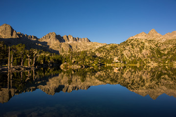 Summer sunrise in Aigüestortes and Sant Maurici National Park, Spain