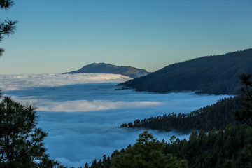 Cloud sea in La Palma, Canary Islands, Spain