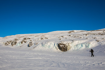 Ski expedition in Dovrefjell National Park, Norway