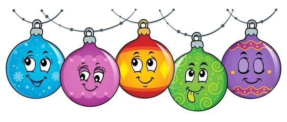 Poster Voor kinderen Happy Christmas ornaments theme image 3