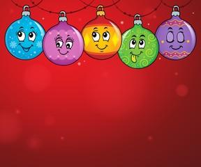 Poster Voor kinderen Happy Christmas ornaments theme image 4