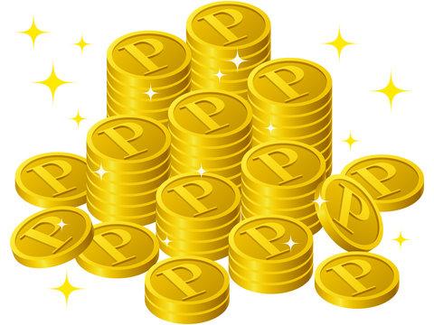 輝くPコイン