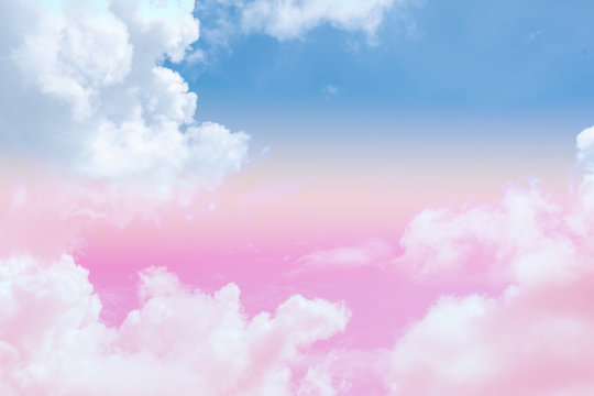 Pastel sky wallpaper, abstract background with clouds and sunlight., cloud subtle background with a pastel color.