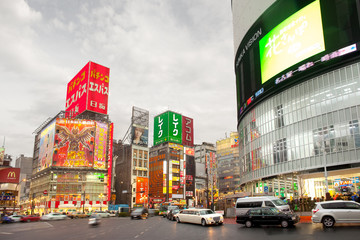 Tokyo, Japan - The bustling district of Shinjuku.