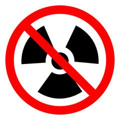 Radiation Traditional Hazard Symbol Sign,Vector Illustration, Isolated On White Background Icon. EPS10