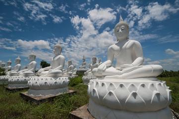 image of Buddha white In Sakaew,Thailand