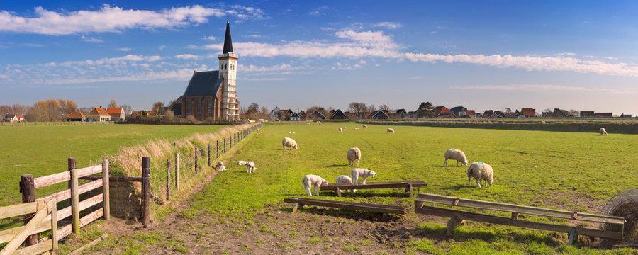 Church of Den Hoorn on Texel island in The Netherlands