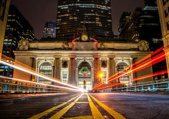 Fotobehang New York Grand Central Terminal Night Capture - New York