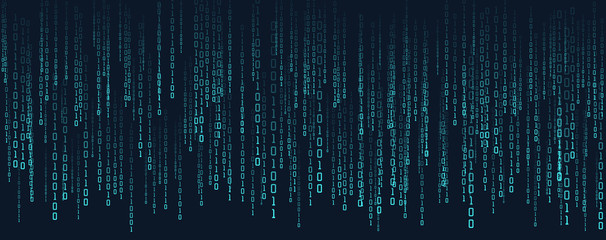Abstract technology binary code background.Digital binary data and secure data concept.Matrix background with number 0 and 1.