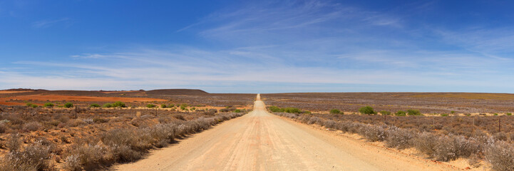 Dirt road through the Karoo in South Africa
