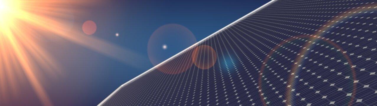 photovoltaic renewable background solar panel 3d