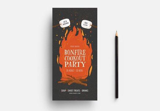 Bonfire Cookout Card Layout