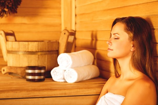 Young woman relaxing in spa. Healthcare and beauty